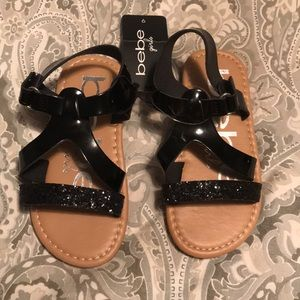 NWT Bebe girls sandals, size 9